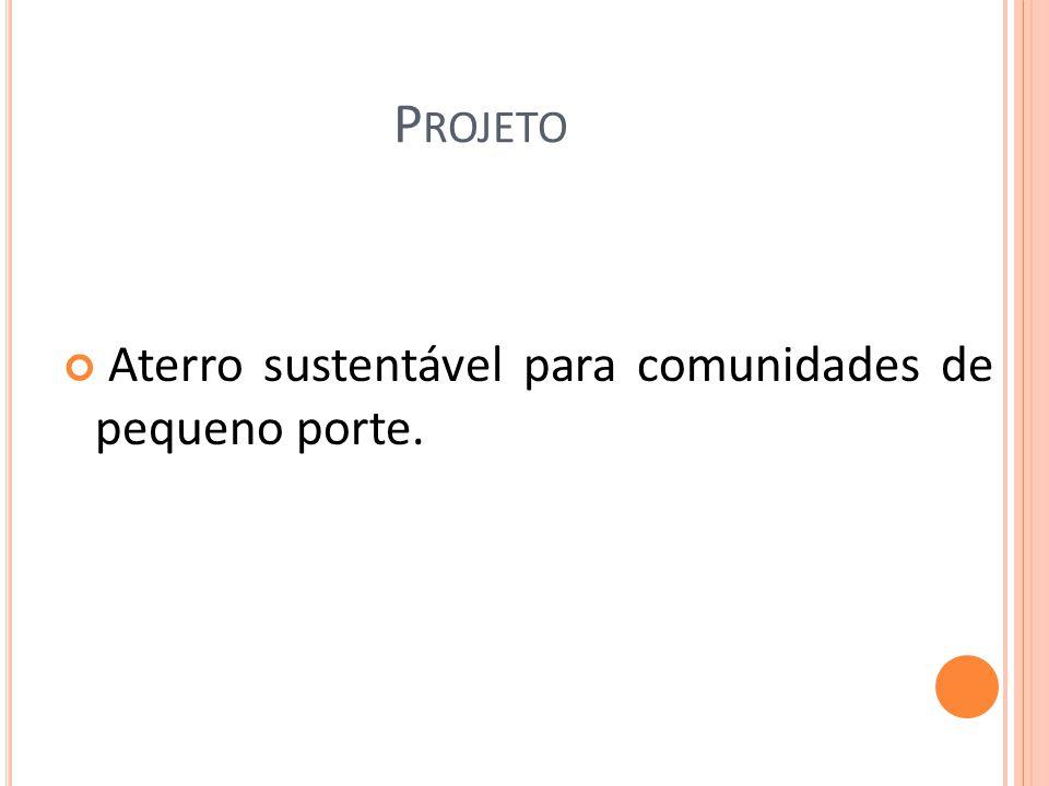Projeto Aterro sustentável para comunidades de pequeno porte.