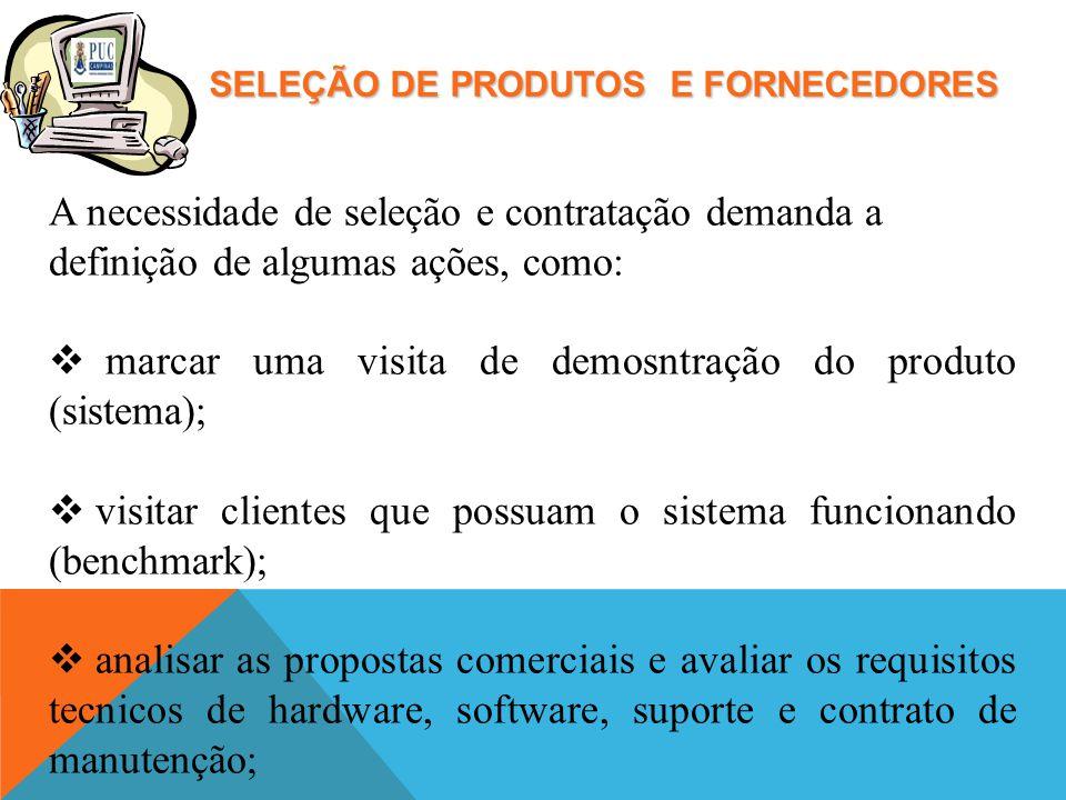 marcar uma visita de demosntração do produto (sistema);