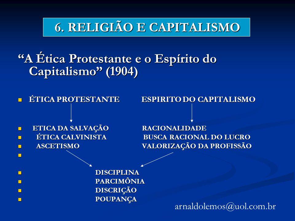 6. RELIGIÃO E CAPITALISMO