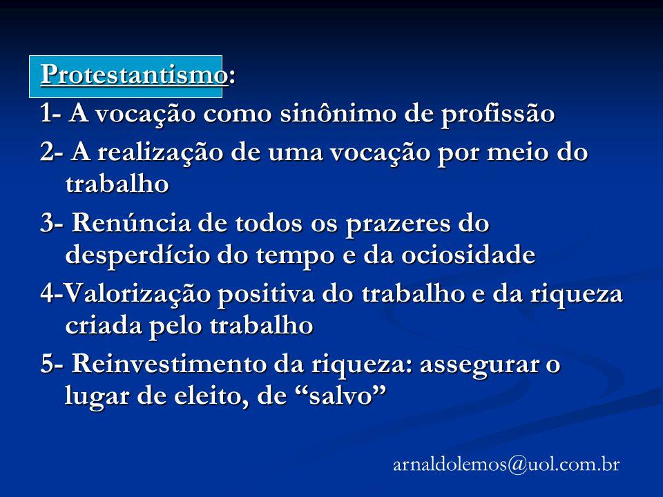 1- A vocação como sinônimo de profissão