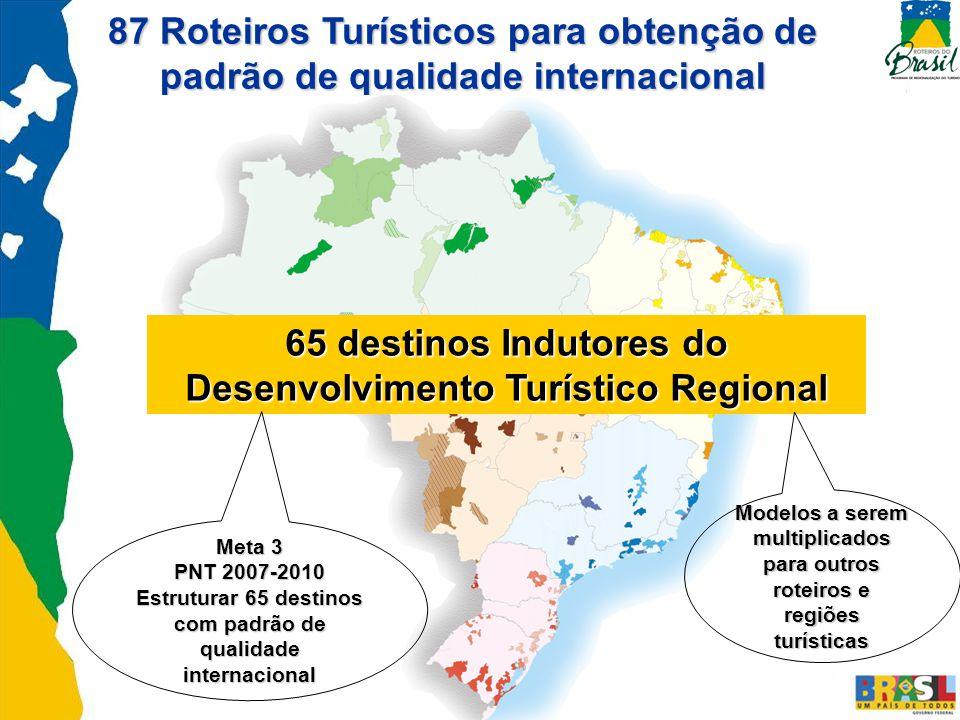 65 destinos Indutores do Desenvolvimento Turístico Regional