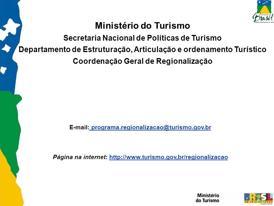 Ministério do Turismo Secretaria Nacional de Políticas de Turismo