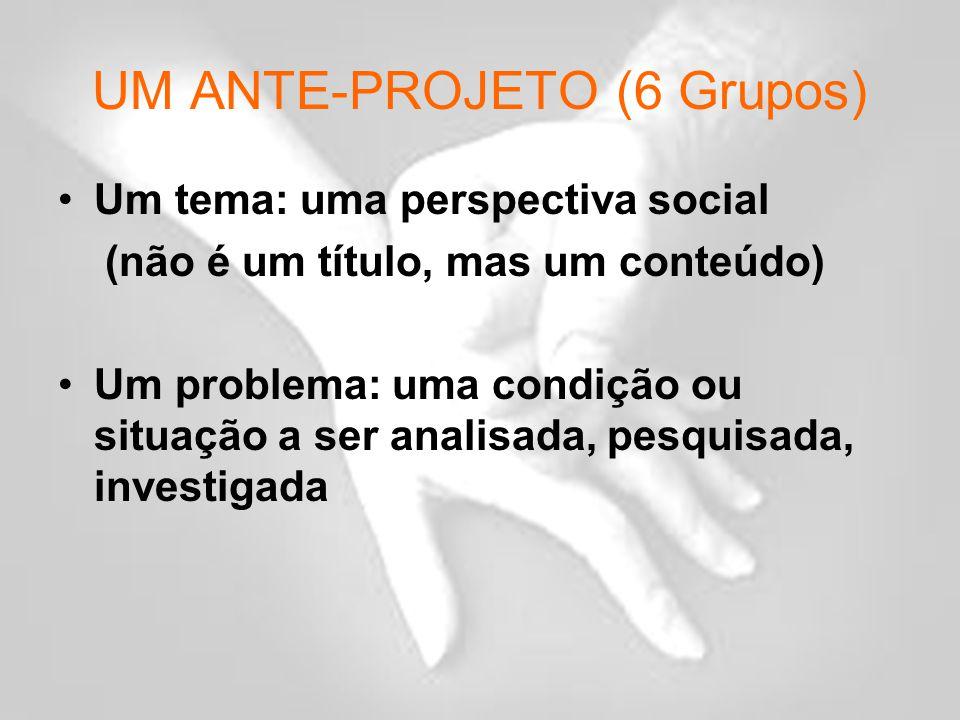 UM ANTE-PROJETO (6 Grupos)
