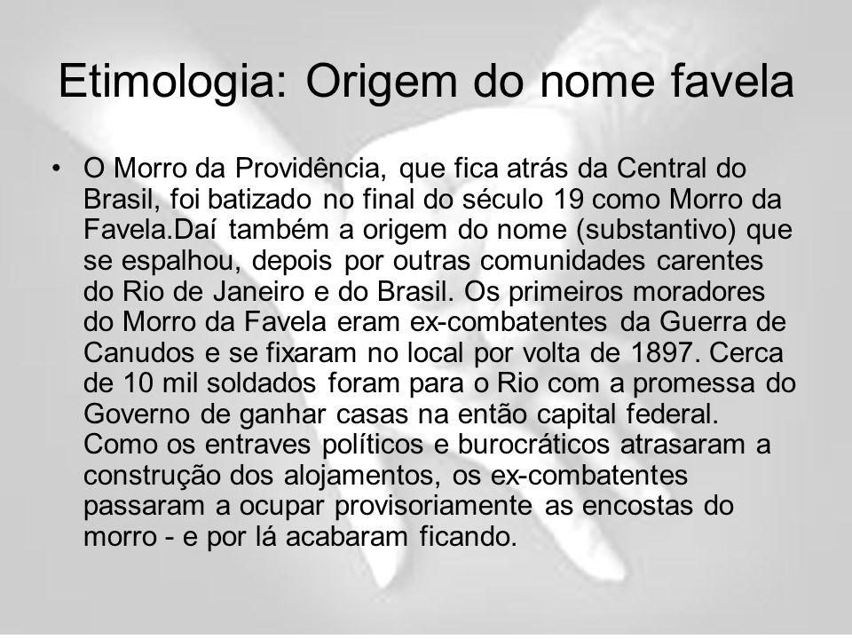 Etimologia: Origem do nome favela