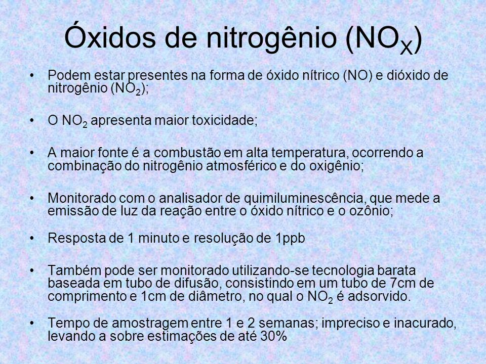 Óxidos de nitrogênio (NOX)