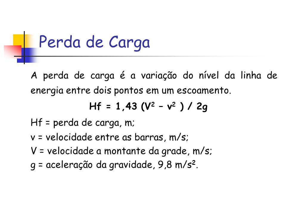 Perda de Carga A perda de carga é a variação do nível da linha de energia entre dois pontos em um escoamento.