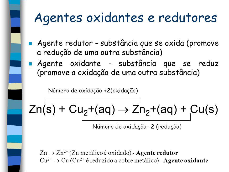 Agentes oxidantes e redutores
