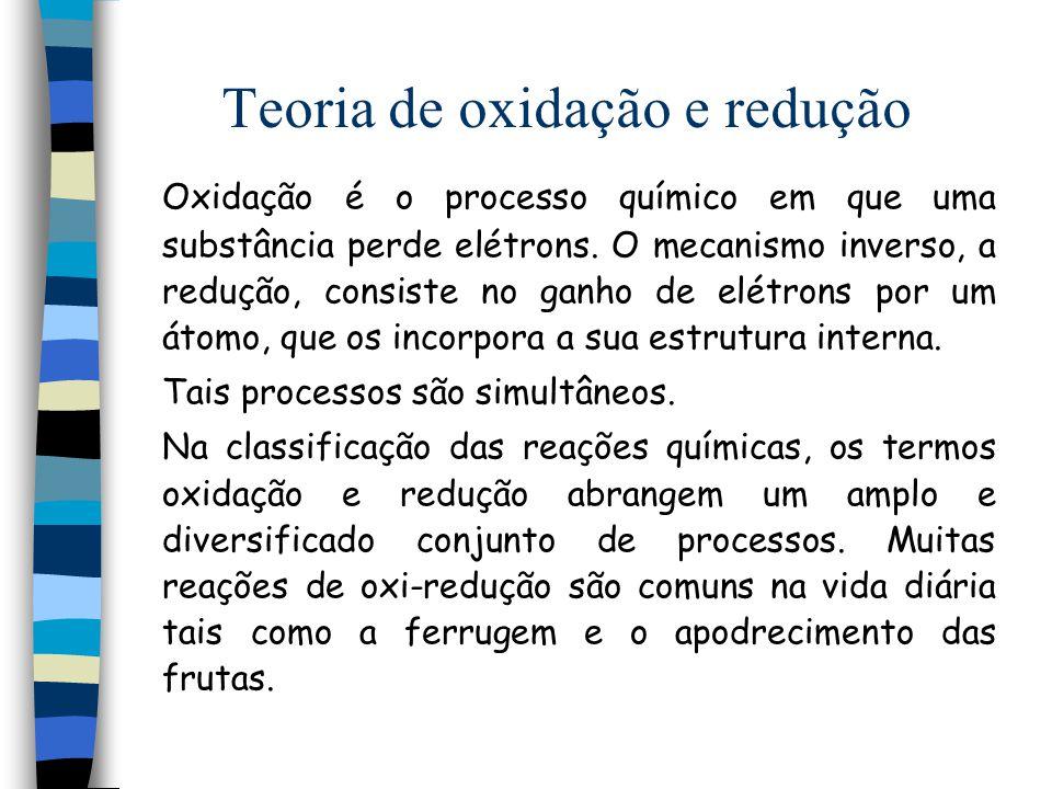 Teoria de oxidação e redução