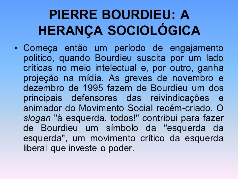 PIERRE BOURDIEU: A HERANÇA SOCIOLÓGICA
