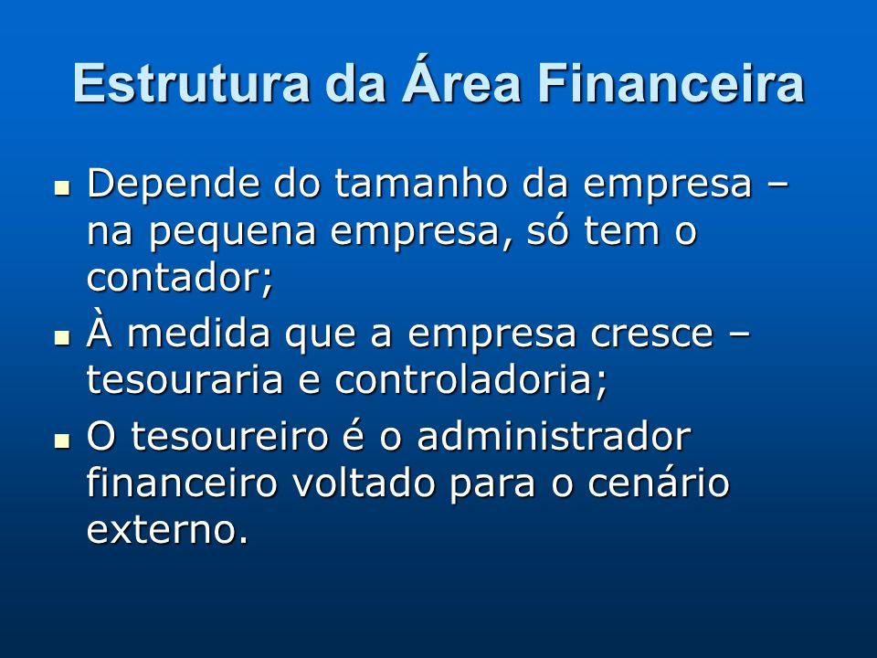 Estrutura da Área Financeira
