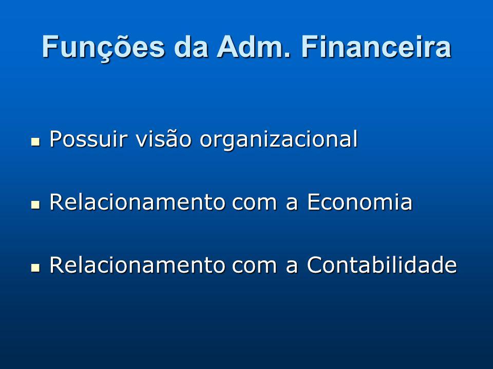 Funções da Adm. Financeira