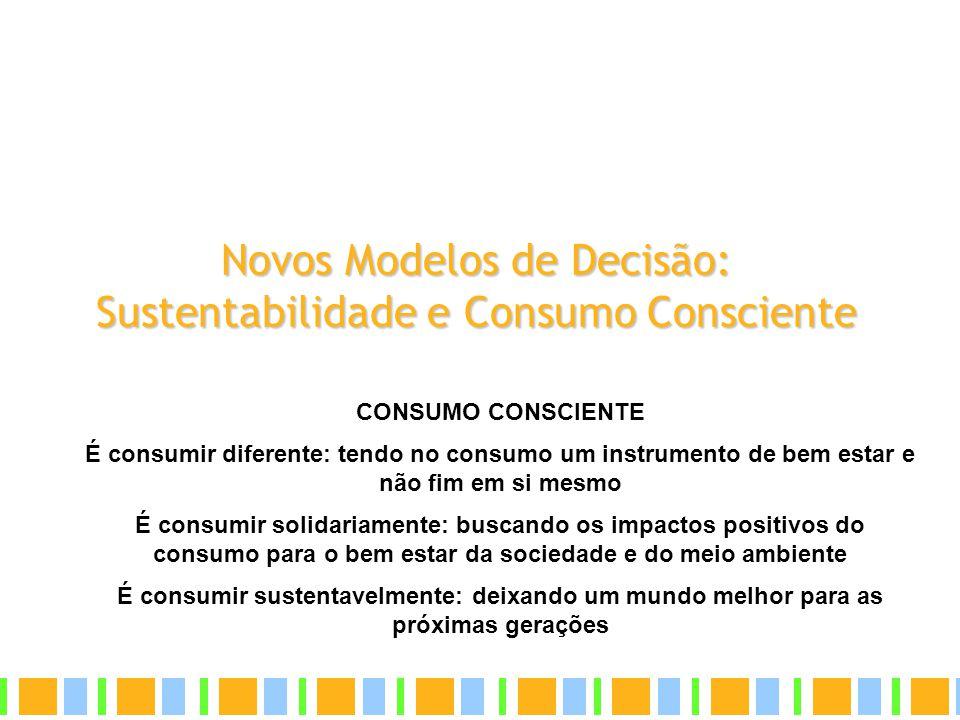 Novos Modelos de Decisão: Sustentabilidade e Consumo Consciente