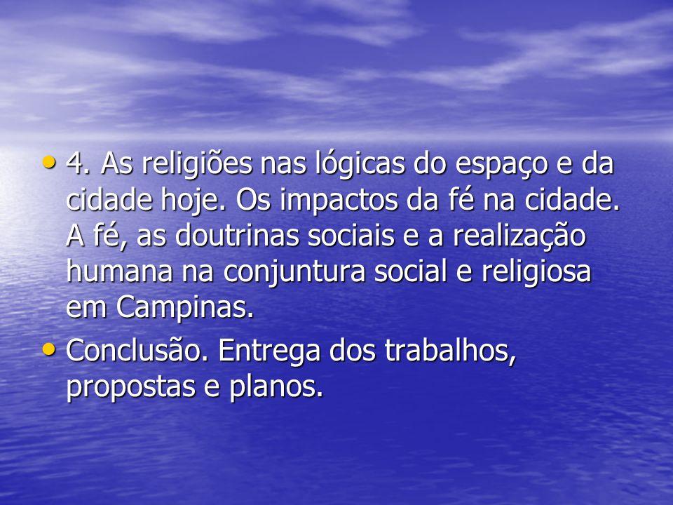 4. As religiões nas lógicas do espaço e da cidade hoje