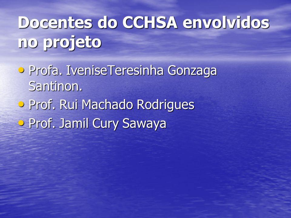 Docentes do CCHSA envolvidos no projeto