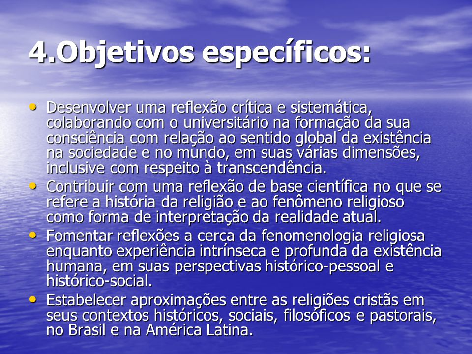 4.Objetivos específicos: