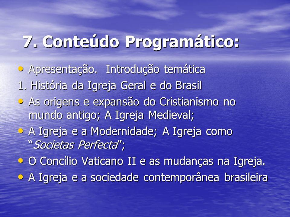 7. Conteúdo Programático: