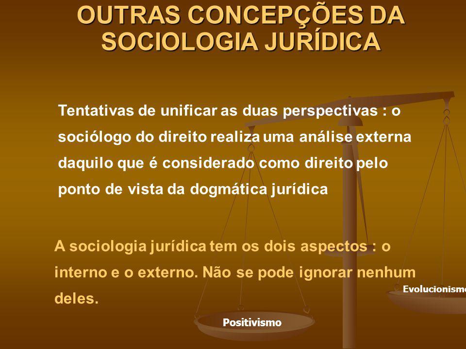 OUTRAS CONCEPÇÕES DA SOCIOLOGIA JURÍDICA
