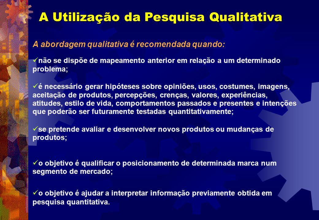 A Utilização da Pesquisa Qualitativa
