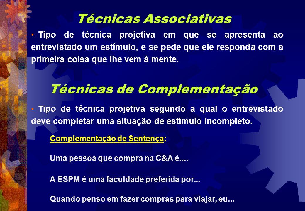 Técnicas Associativas Técnicas de Complementação