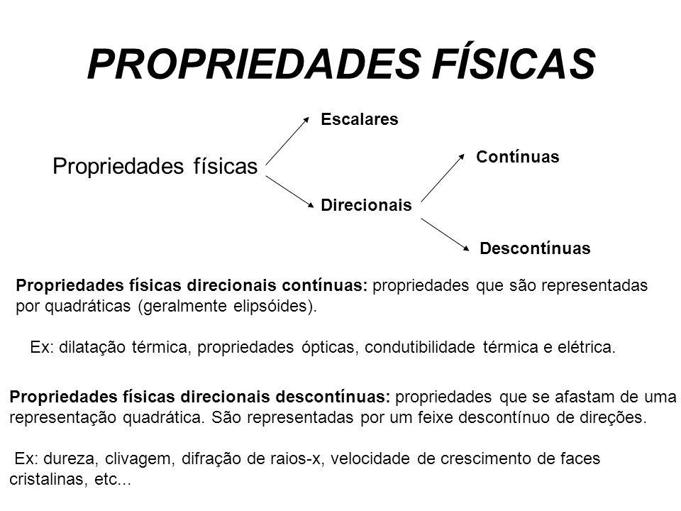 PROPRIEDADES FÍSICAS Propriedades físicas Escalares Contínuas