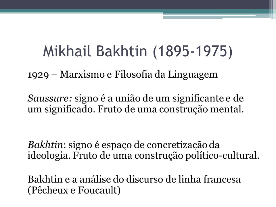 Mikhail Bakhtin (1895-1975)