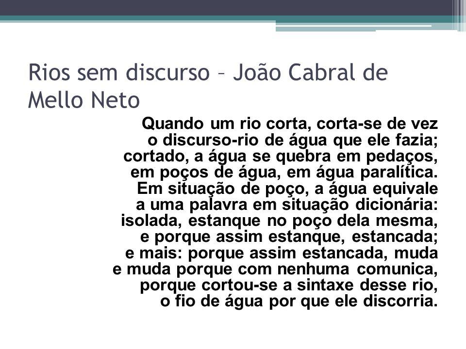 Rios sem discurso – João Cabral de Mello Neto