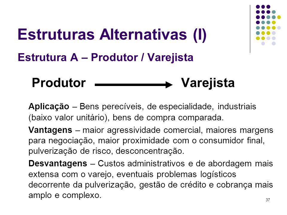 Estruturas Alternativas (I)