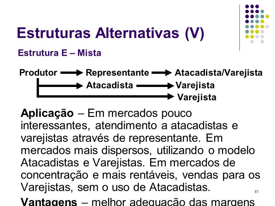 Estruturas Alternativas (V)