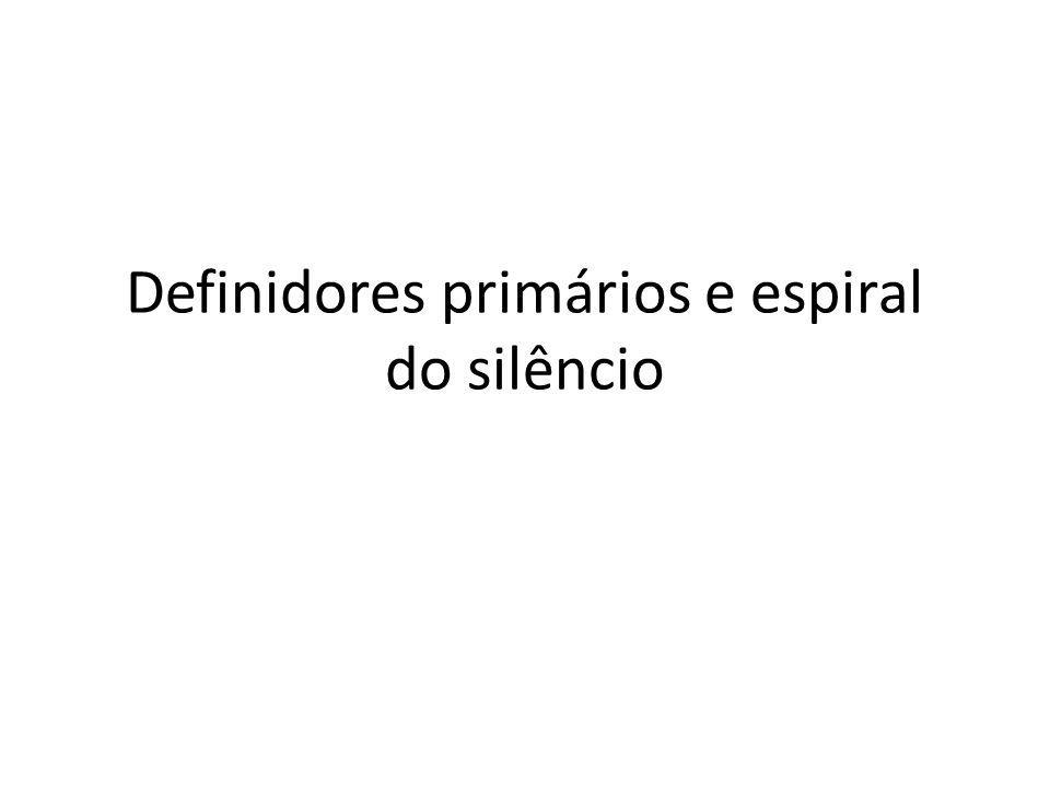 Definidores primários e espiral do silêncio