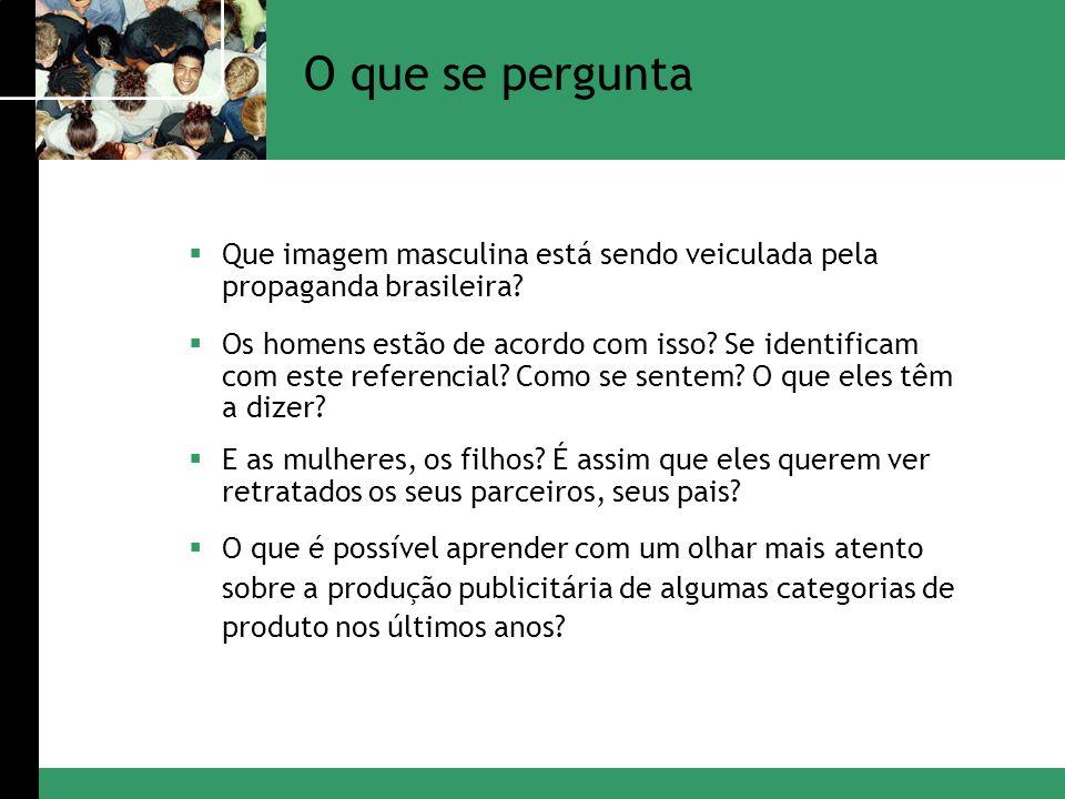 O que se pergunta Que imagem masculina está sendo veiculada pela propaganda brasileira