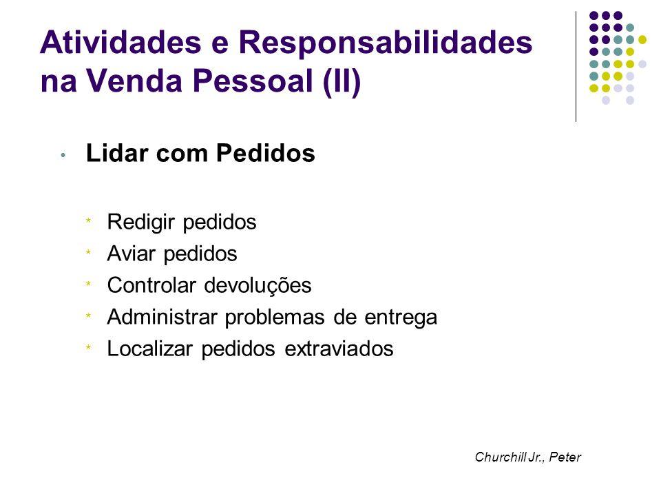 Atividades e Responsabilidades na Venda Pessoal (II)