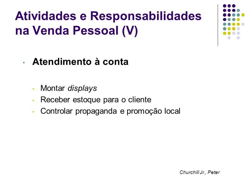 Atividades e Responsabilidades na Venda Pessoal (V)