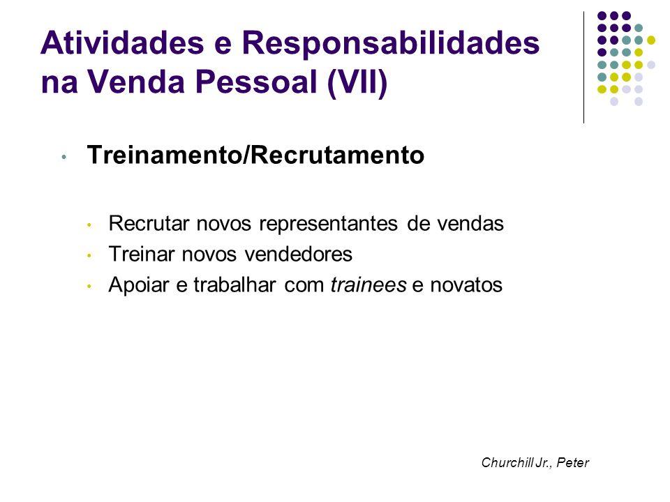 Atividades e Responsabilidades na Venda Pessoal (VII)