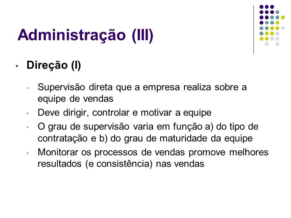 Administração (III) Direção (I)