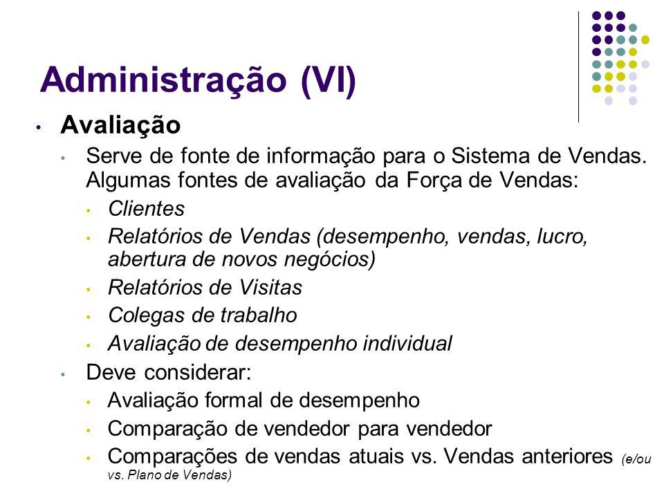 Administração (VI) Avaliação