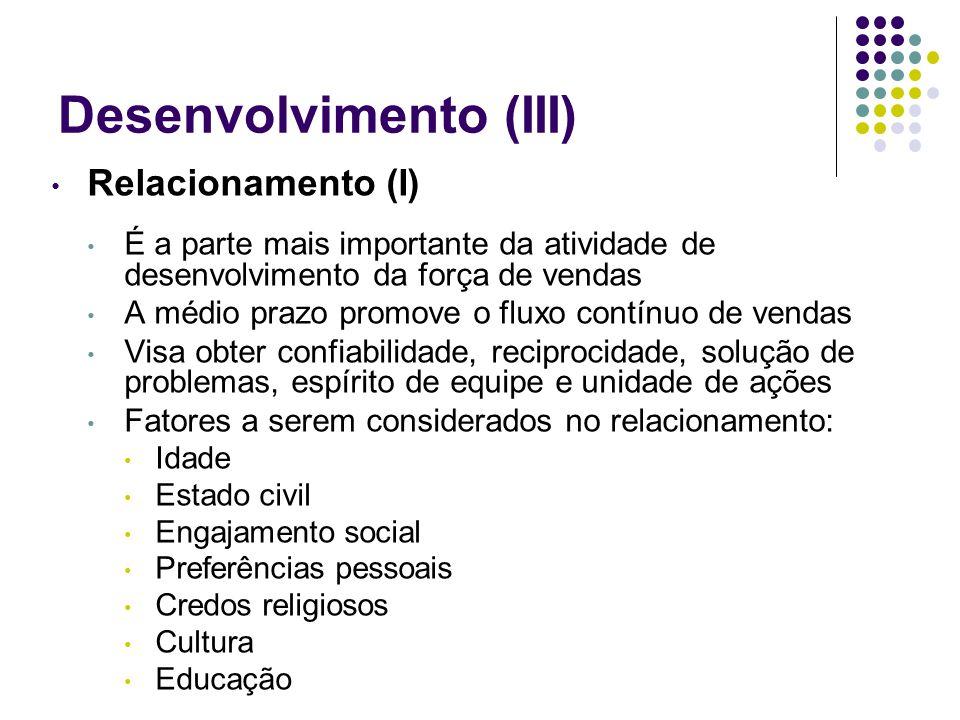 Desenvolvimento (III)