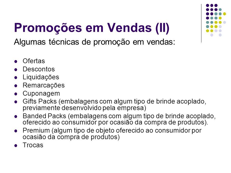 Promoções em Vendas (II)