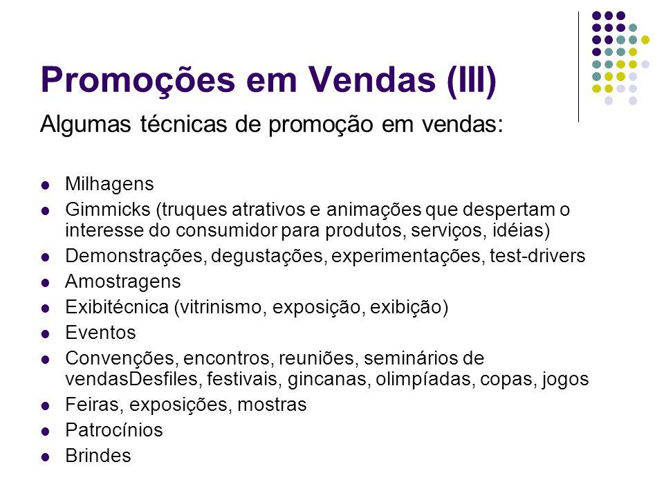 Promoções em Vendas (III)