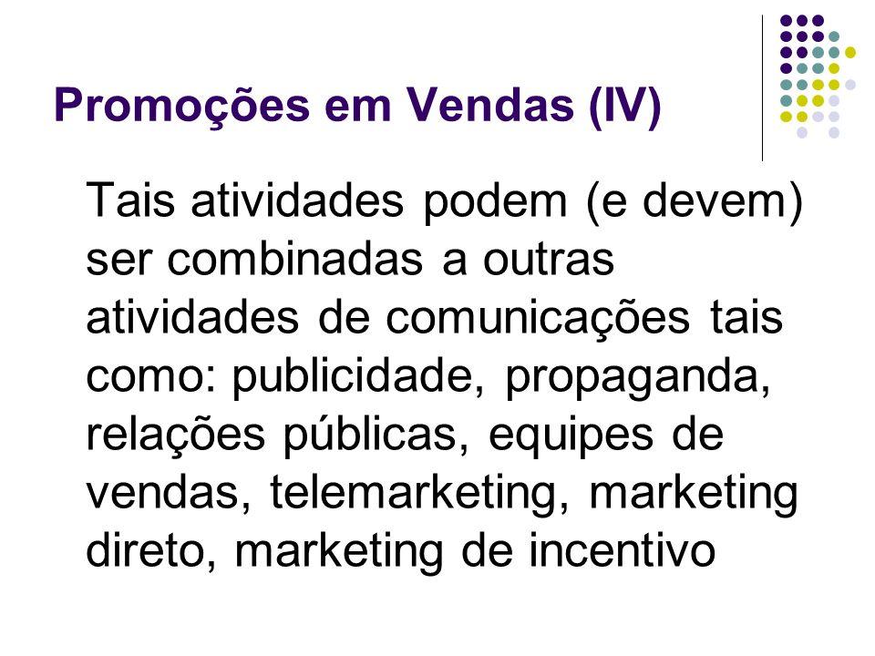 Promoções em Vendas (IV)