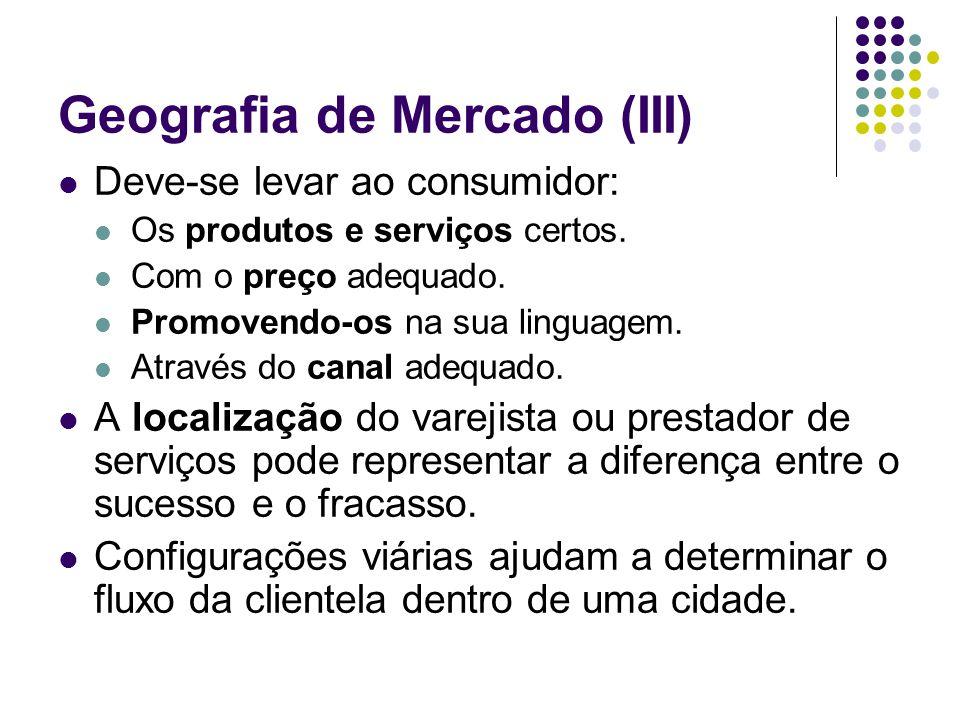 Geografia de Mercado (III)