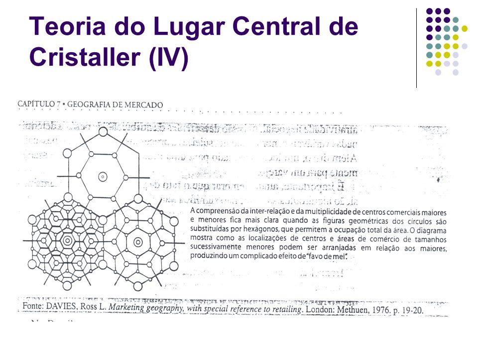 Teoria do Lugar Central de Cristaller (IV)