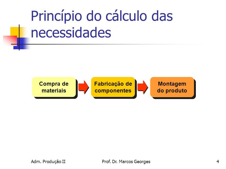 Princípio do cálculo das necessidades