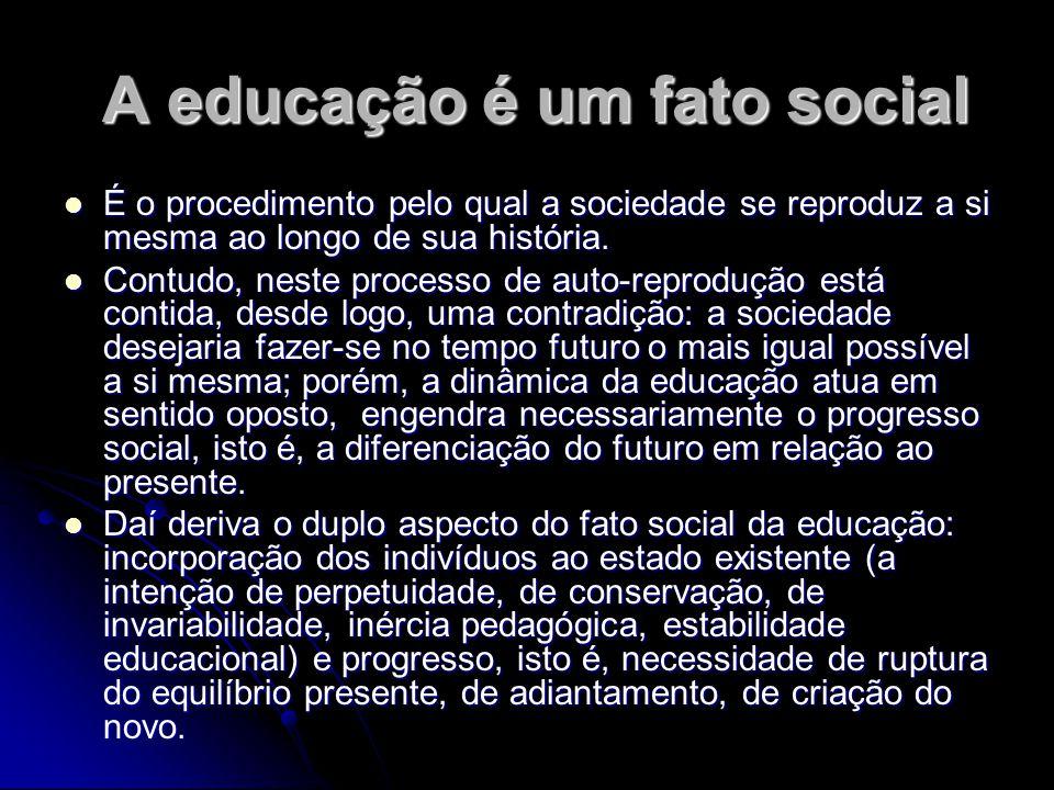 A educação é um fato social