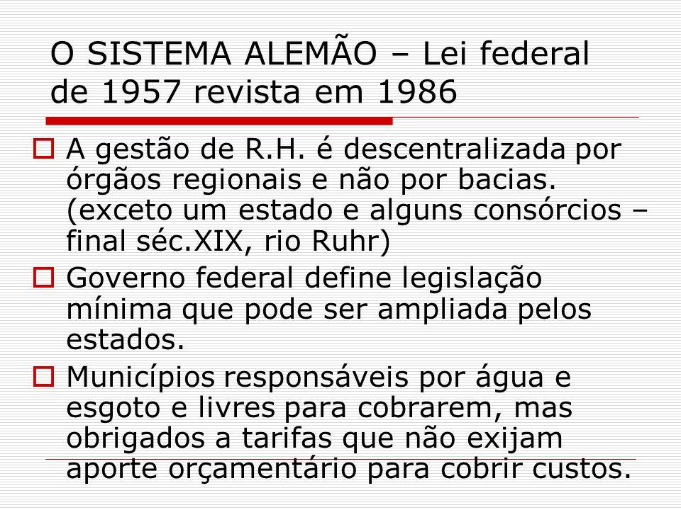O SISTEMA ALEMÃO – Lei federal de 1957 revista em 1986