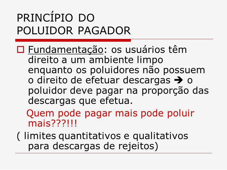 PRINCÍPIO DO POLUIDOR PAGADOR