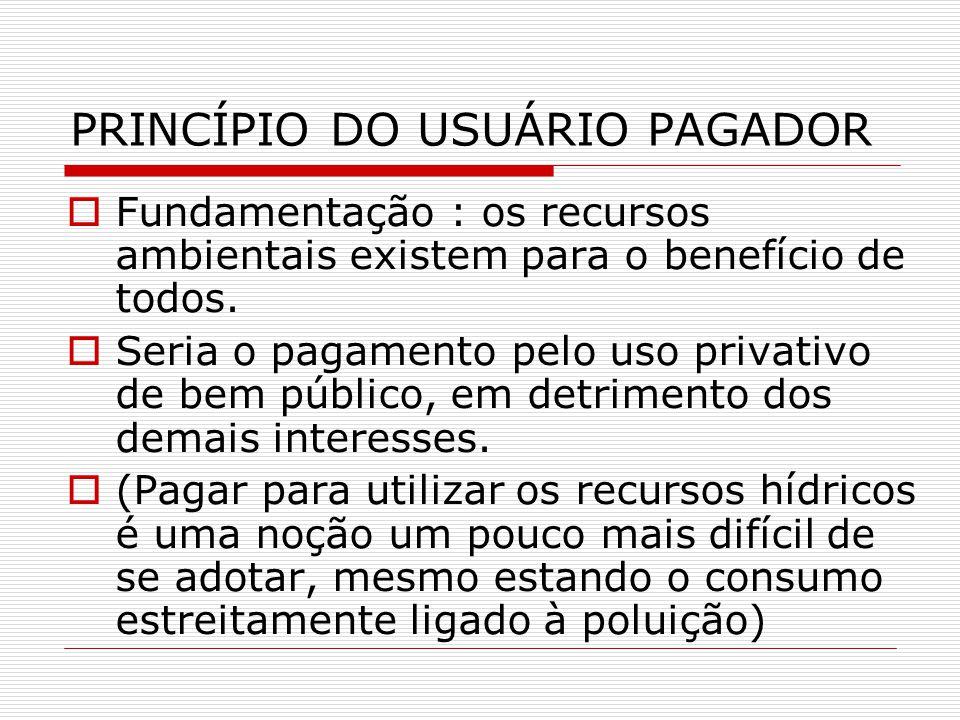PRINCÍPIO DO USUÁRIO PAGADOR