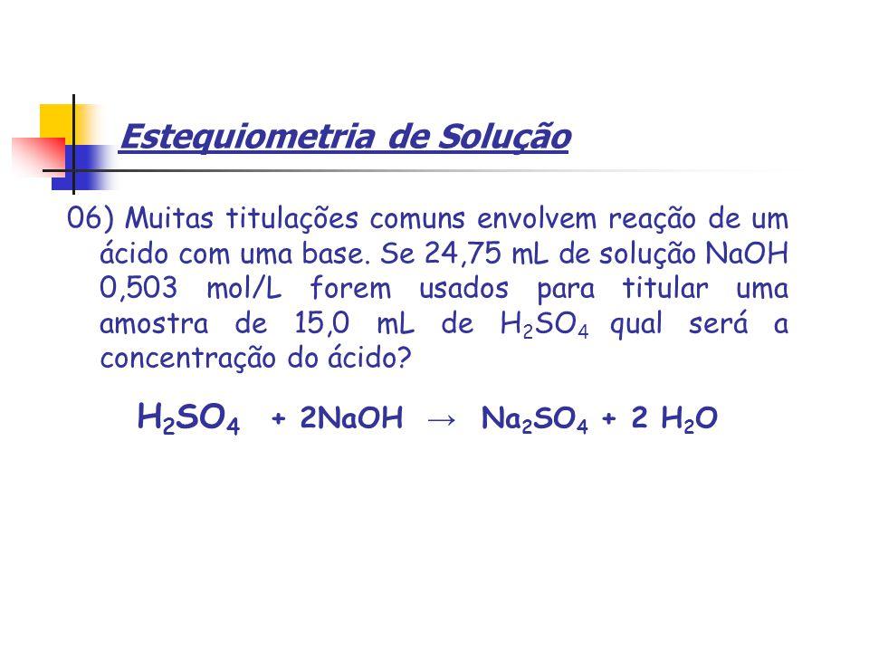 Estequiometria de Solução