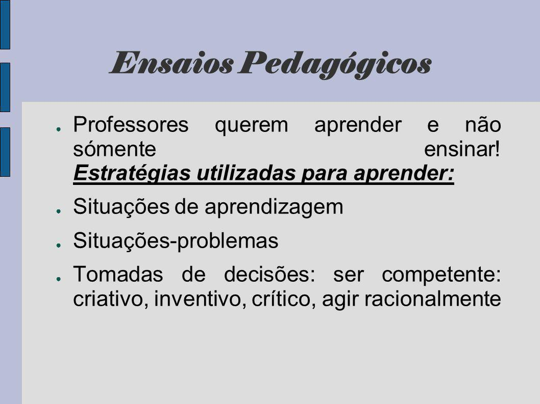 Ensaios Pedagógicos