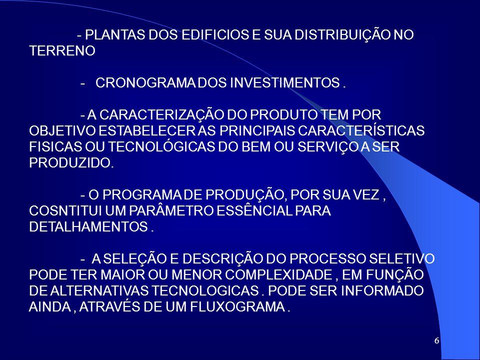 - PLANTAS DOS EDIFICIOS E SUA DISTRIBUIÇÃO NO TERRENO