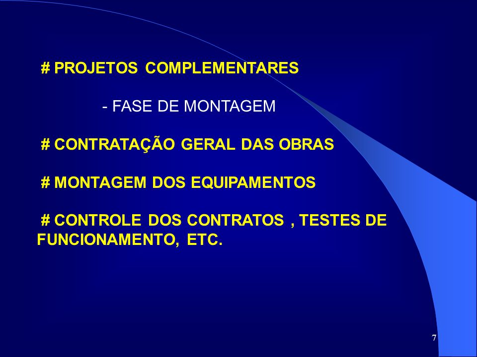 # PROJETOS COMPLEMENTARES